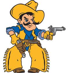 cowboy logo mascot vector image