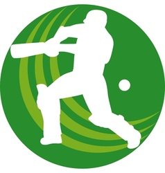 cricket player batsman batting vector image