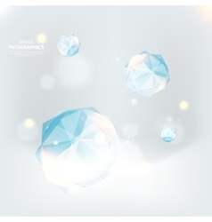 Cristal ice on an indistinct blue background vector
