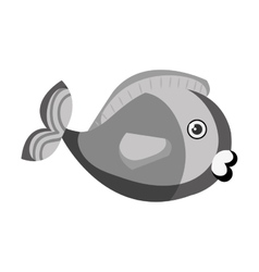 Cute colors fish pet vector