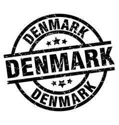 Denmark black round grunge stamp vector