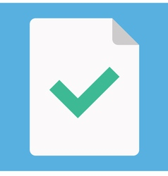 Document and Tick Icon vector image