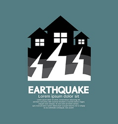 Earthquake Effect To Home vector image
