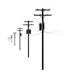 Energy and technology electrical post road vector