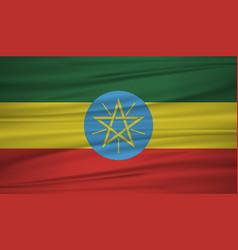 ethiopia flag flag of ethiopia blowig in the vector image