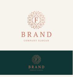 F brand logo vector