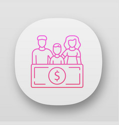 Family sponsorship immigration app icon migration vector