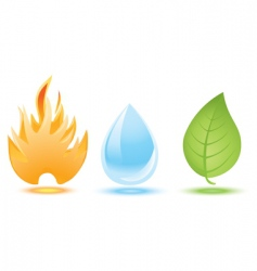fire water leaf vector image