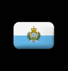 Flag of san marino matted icon and button vector