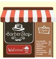 Flat modern barber shop vector