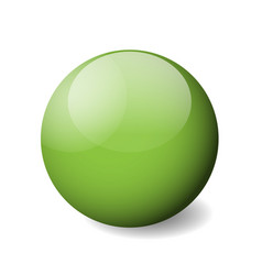 Green glossy sphere ball or orb 3d object vector
