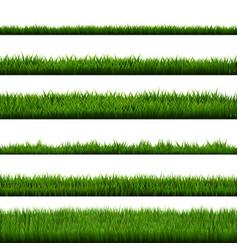 green grass border big collection vector image
