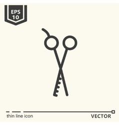 Hairdressing - Icons series Thinning scissors vector