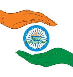 Happy indian republic day design vector