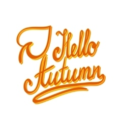 Hello autumnInspirational and motivational quotes vector