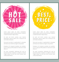 Hot burn sale best price choice set label poster vector