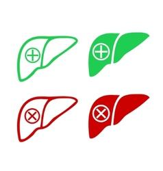 Human liver icon logo vector