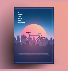 I want to ride my bicycle vector