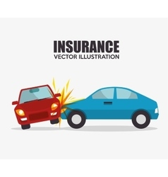 Icon insurance car crash security design vector
