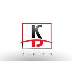 Is i s logo letters with red and black colors and vector