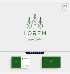landscape logo design for landscaping icon vector image