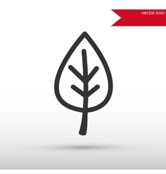 Leaf black icon and jpg Flat style object vector image vector image