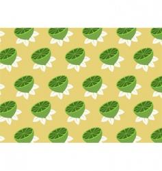 lemons pattern vector image vector image