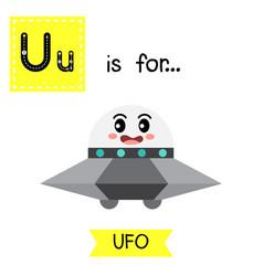 Letter u tracing ufo vector