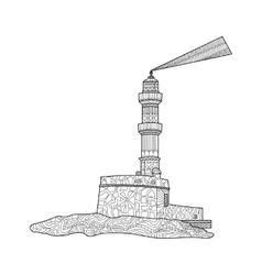 Lighthouse coloring for adults vector image