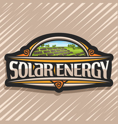 Logo for solar energy vector