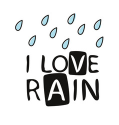love rain calligraphy lettering love vector image