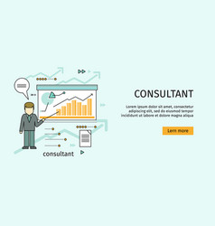 management consulting banner vector image