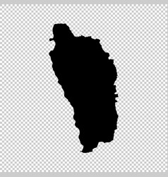 Map dominica isolated black vector