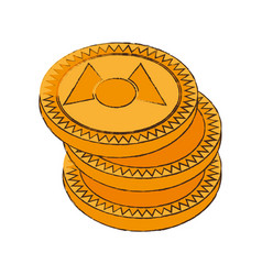 Mastercoin cryptocurrency stack icon vector