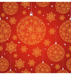 Merry Christmas red seamless pattern background vector
