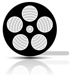 movie film reel symbol vector image