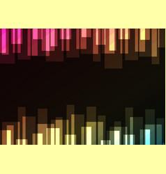 Multicolor bar overlap in dark background vector