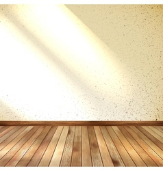 Old grunge interior wooden floor EPS 10 vector image