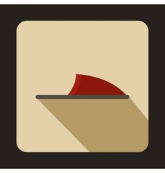 Pair of red slippers icon flat style vector