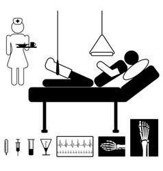 patient in hospital vector image