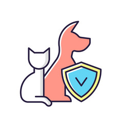 pet insurance rgb color icon vector image