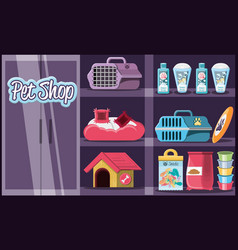 Pet shop veterinary elements vector