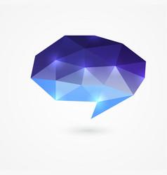 Polygonal speech bubble vector