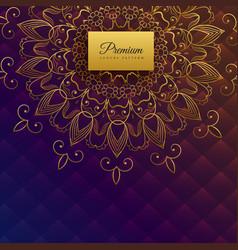 Premium ethnic mandala card design vector