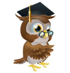 professor owl vector image