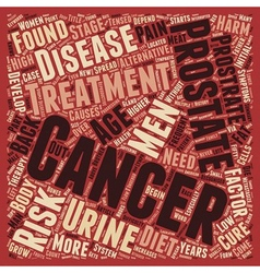 Prostrate cancer treatment text background vector image