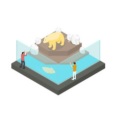 public zoo concept 3d isometric view vector image