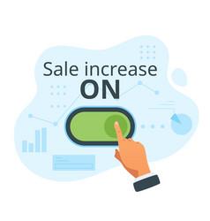Sale increase concept vector