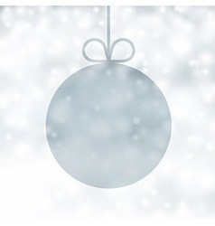 Silver christmas background vector image vector image
