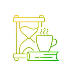 Slow living gradient linear icon vector